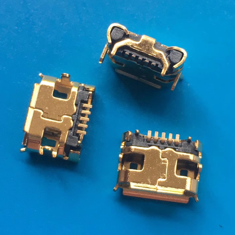 镀金MICRO USB 5P母座